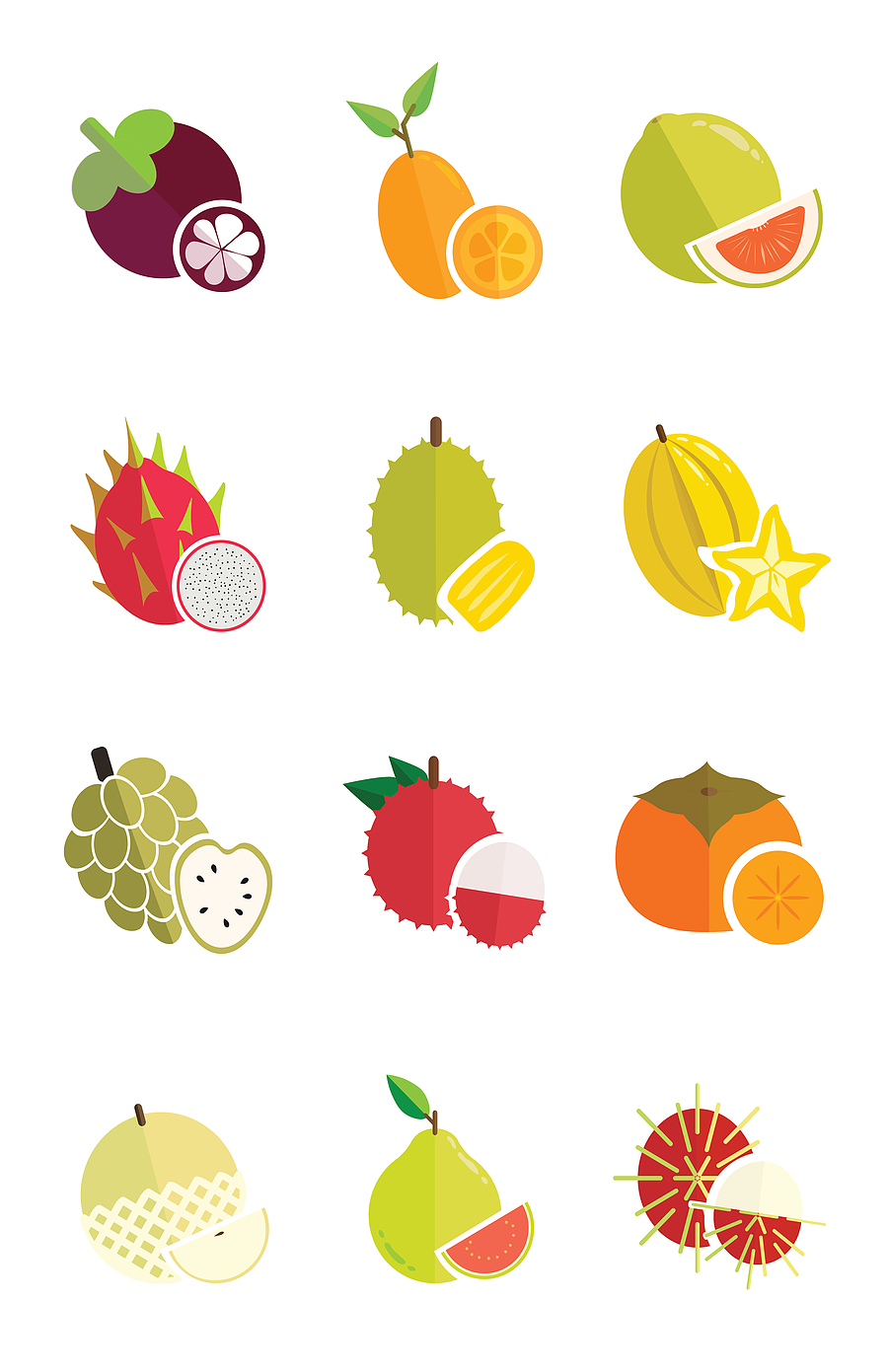 Fruit Icons (Adobe Illustrator, 2019)