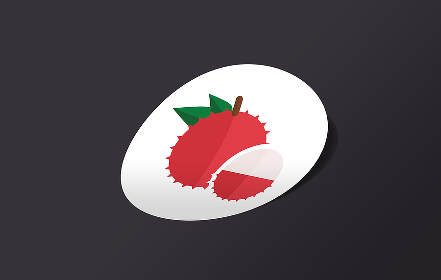 Lychee-Sticker-Mockup
