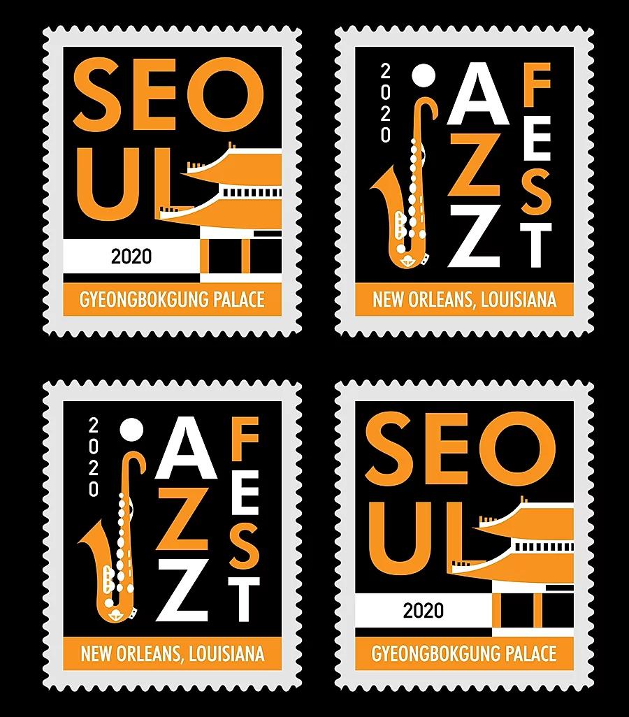 Seoul / Jazz Stamps (Adobe Illustrator, 2020)